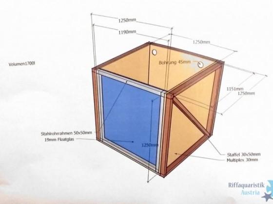 Holzaquarium Entwurf
