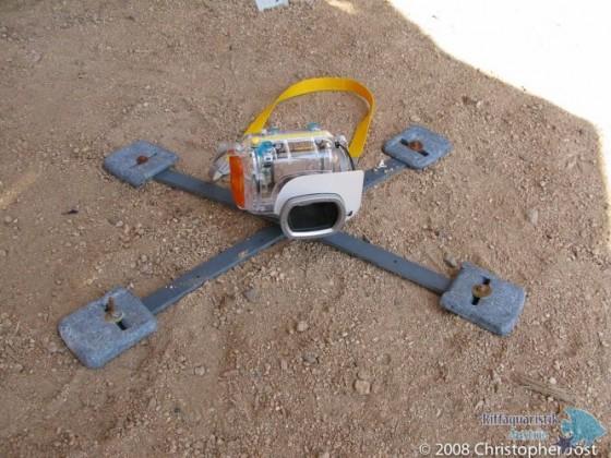 Unterwassergehäuse für Canon g9 mit bleibeschwertem Stativkreuz